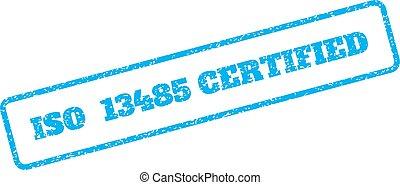 ゴム, iso, 13485, 証明される, 切手