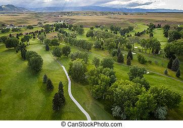 ゴルフコース, 航空写真