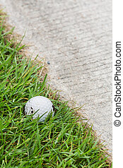 ゴルフボール, 近くに, ∥, カート, 道