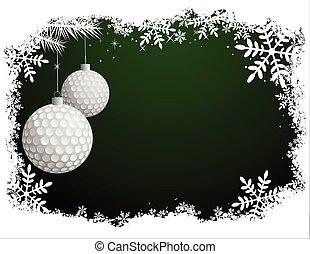 ゴルフ, クリスマス, 背景