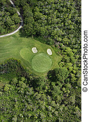 ゴルフ, 航空写真, course.