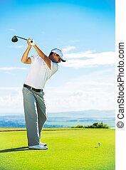 ゴルフ, 遊び, 人