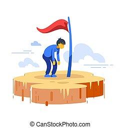 ゴール, 弾力性, 損失, 進歩, 動機づけ, 目的達成者, の上, perfectionist, 人, 成長, ...