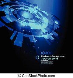 サイエンスフィクション, 抽象的, -, 高く, ベクトル, 技術, 背景, デザイン, 未来派
