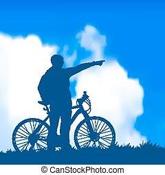 サイクリスト, シルエット