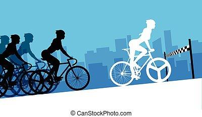 サイクリスト, 中に, ∥, 自転車競技