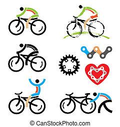 サイクリング, アイコン