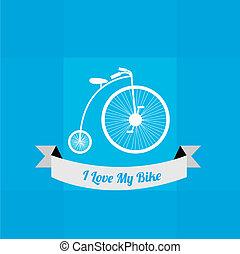 サイクリング, デザイン, 愛