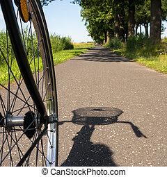 サイクリング, 中に, 夏