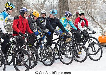サイクリング, 冬