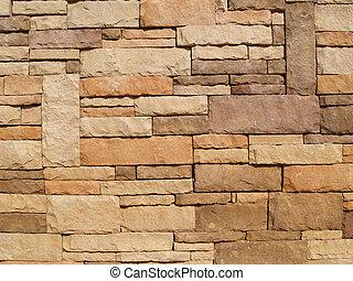 サイズを定められた, 壁, 石, 多彩