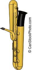 サクソフォーン, イラスト, 白, ベクトル, バックグラウンド。, 黄色