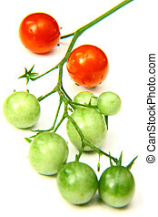 サクランボのトマト, 赤 と 緑