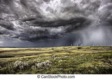 サスカチェワン, 雲, 嵐