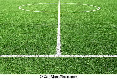 サッカーフットボール, フィールド, 競技場, 線, 草