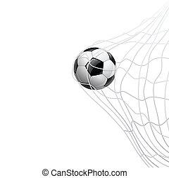 サッカーボール, 中に, 網