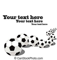 サッカーボール, 中に, a, row.