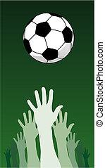 サッカーボール, 手