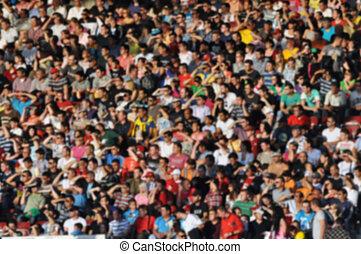 サッカーマッチ, 群集, 人々
