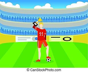 サッカー, カラフルである, 賞, テンプレート