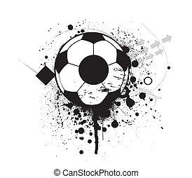 サッカー, グランジ, フットボール