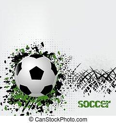 サッカー, グランジ, 効果, ボール