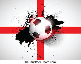 サッカー, グランジ, 背景, フットボール, /