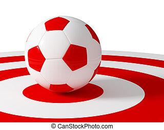 サッカー, ターゲット, ボール