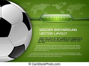 サッカー, レイアウト