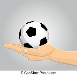 サッカー, 保有物の 球, 手
