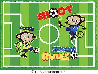 サッカー, 猿