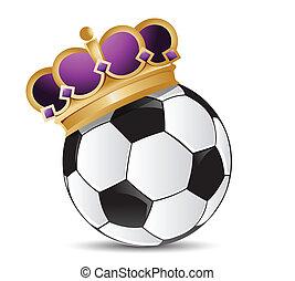 サッカー, 王冠, ボール