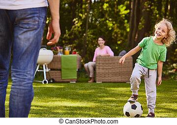 サッカー, 球を すること, 子供