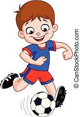 サッカー, 男の子