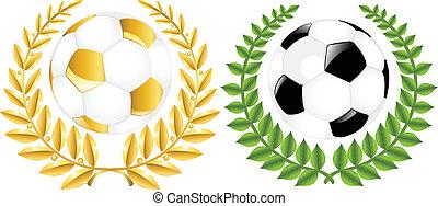サッカー, 2, ボール, 包む