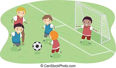 サッカー, stickman