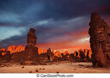 サハラ砂漠, 日の出