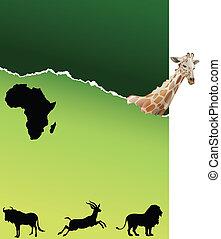 サファリ, 中に, アフリカ