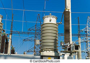 サブステーション, スイッチ, 高電圧, 接続を断つ
