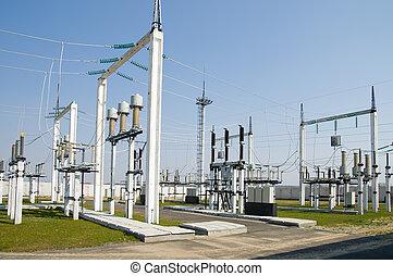 サブステーション, 部分, 高電圧