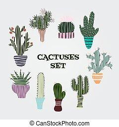 サボテン, みずみずしい, 植物