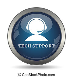 サポート, アイコン, 技術