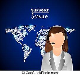 サポート, サービス, デザイン