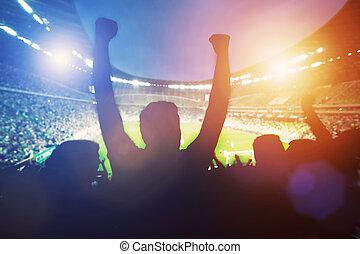 サポート, 幸せ, ∥(彼・それ)ら∥, ファン, チーム, フットボール