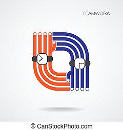 サポート, 手, チームワーク, 握手, 概念, 概念, 助け