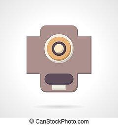 サポート, 色, icon., ベクトル, 態度, 平ら
