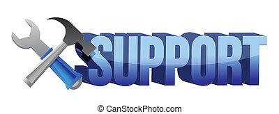 サポート, 道具, 印