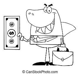 サメ, 微笑した, 概説された, ビジネス