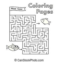 サメ, 着色, ゲーム, 本, 迷路, 漫画