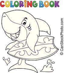 サメ, 着色, サーファー, 1, 主題, 本